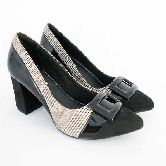 Sapato Piccadilly 746015 Soft Step Xadrez 100% Original