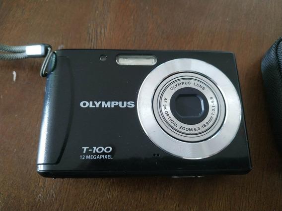 Camera Olympus T-100 Sem Carregador + Cartão Memória 4 Gb