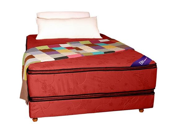 Colchon Y Sommier 190 X 140 Doble Pillow Somier Jackard