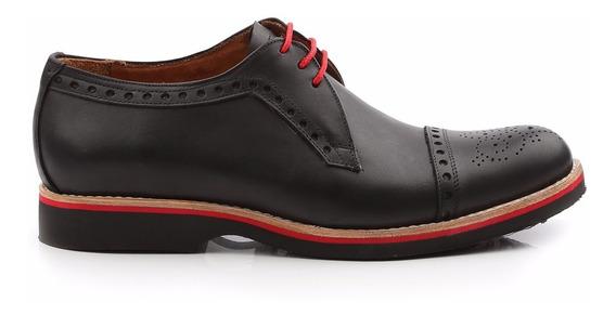 Zapatos De Hombre De Cuero Acordonado Agustín - Ferraro
