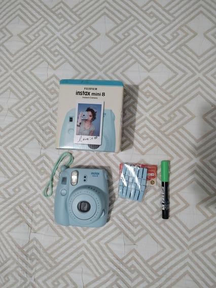Câmera Instax Mini 8 Azul Aqua