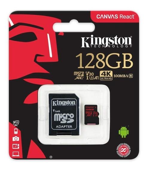 Memória Card Micro Sd 128gb Kingston 80mb/s Class10 !