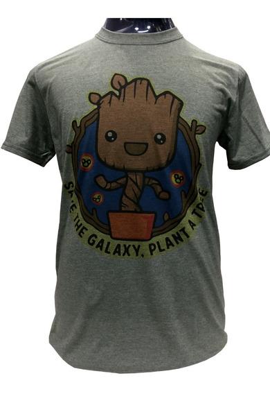 Polera Baby Groot Vintage Guardianes De La Galaxia Marvel