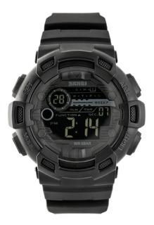 Reloj Hombre Skmei 1243 Negro Crono Alarma Sumergible