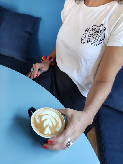 Remeras Caffeine, Chemex, Dream Mujer Negra Modo Barista