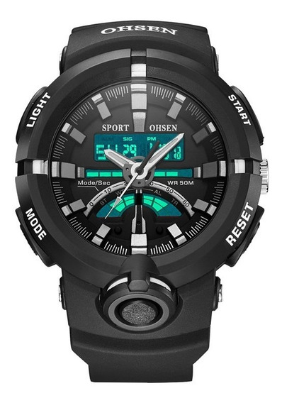 Ohsen Ad1702 Doble Pantalla Led 50 M Impermeable Hombres Rel