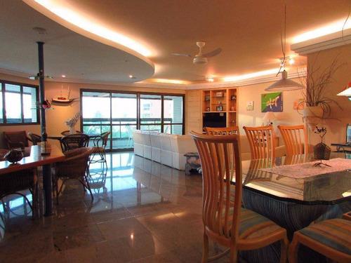 Apartamento Com 4 Dormitórios À Venda, 255 M² Por R$ 5.500.000,00 - Riviera - Módulo 6 - Bertioga/sp - Ap1421