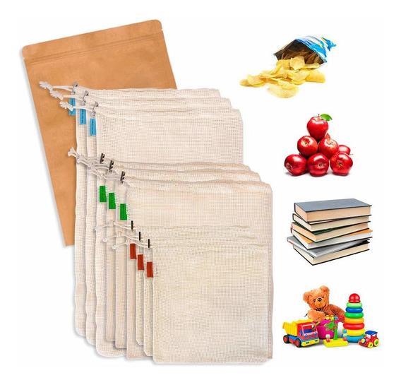 Bolsas Para Frutas Y Verduras Slowton Reutilizables 9 Pzs.