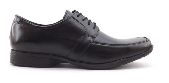 Zapatos Hombre Vestir Cuero Punta Cuadrada Liquidacion