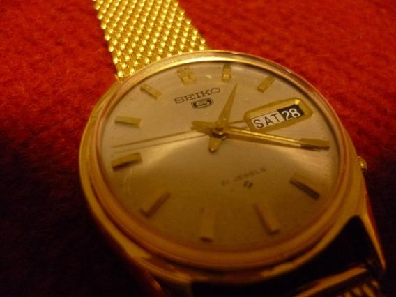 Relógio Seiko 5 6119, Modelo Raro, Tampa Pressão,gold Plated