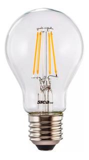 Lámpara Led 6w Sica Vintage Filamentos Blanco Cálido 911341