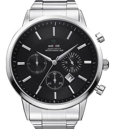 Relógio Masculino Weide Prata Wh3312-1c