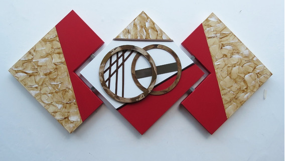 Quadro Abstrato Decorativo Sala, Quarto, Corredor, Chique