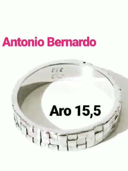Antonio Bernardo Anel Ouro Branco 18k Coleção Téssera