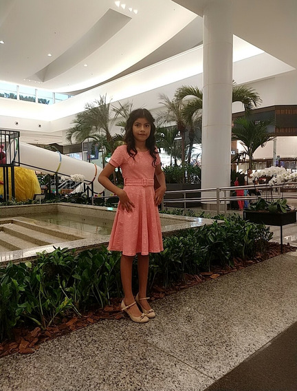 Vestido Moda Evangélico Infantil