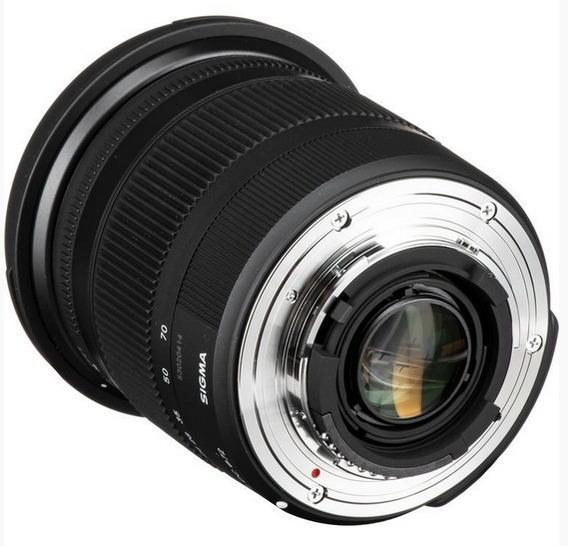 Lente Sigma 17-70mm F/2.8-4 Dc Macro Os Hsm P/ Câmera Nikon