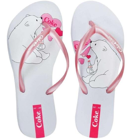 Chinelo Feminino Urso Coke Shoes R$ 49,90 Frete