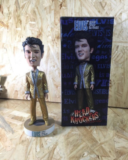 Neca Head Knockers Elvis Presley 1957 Year In Gold Handpaint