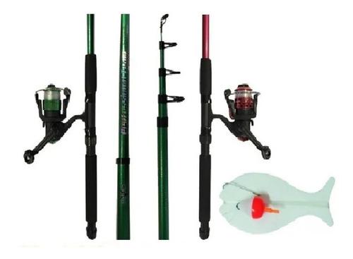 Imagen 1 de 5 de Combo Caña Reel Pesca Niño Promo Para Comenzar