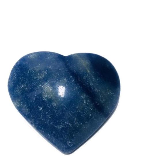 Cristal - Coração De Quartzo Azul Lapidado Pedra Natural!