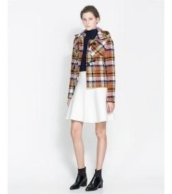 Saco Zara Escoces Newyork Envios Con Normalidad Gratis