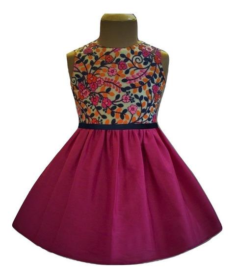 Vestido De Fiesta Importado Hindú Bordado Fs - T: 4-5 Años