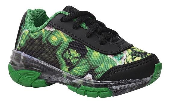Tênis Infantil Masculino Hulk Com Luz.