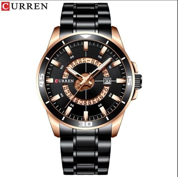 Relógio Masculino Curren Luxo Promoção Black Friday