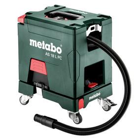 Aspiradora A Batería Metabo + Base C/ruedas As 18 L Pc