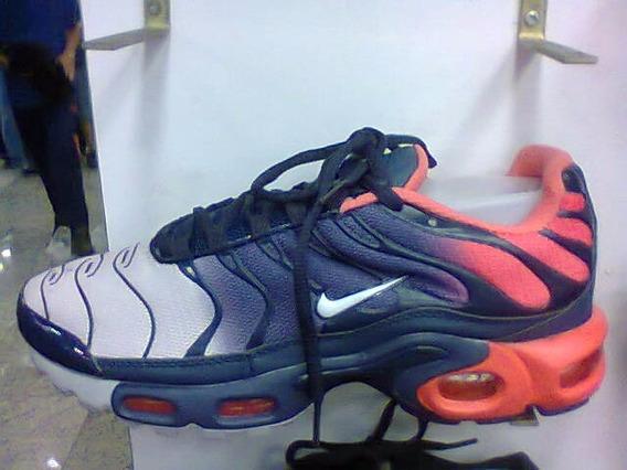 Tenis Nike Air Max Tn Premium Azul E Salmão Nº38 Ao 43 Novo