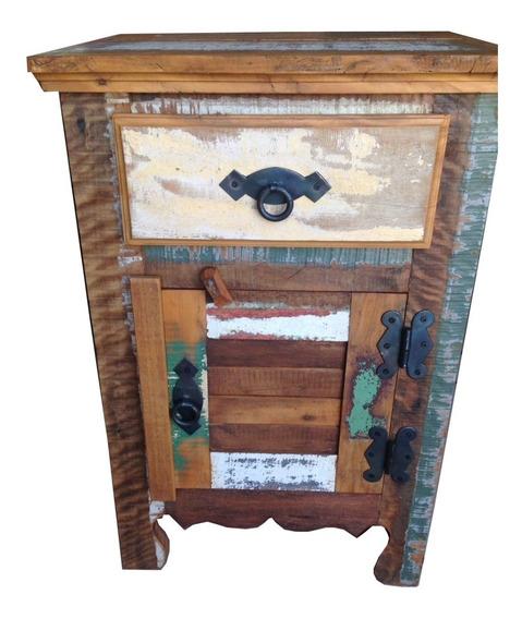 Criado Mudo, Rústico,madeira Demolição,peroba,0,40cm P/ 0,40