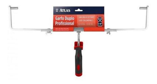 Imagem 1 de 3 de Garfo Duplo Ajustável 30 A 46cm  P/ Big Rolo At360 - Atlas