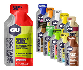 Gu Energy Roctane Gel - Con O Sin Cafeina. Original U S A 1u