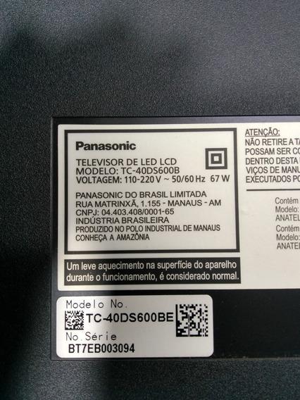Placas E Peças Da Smart Tv Panasonic Tc-40ds600b