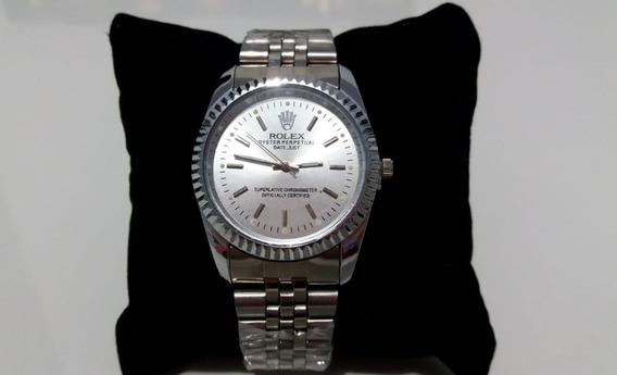 Relógio Feminino Date Just Prata E Branco