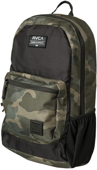 Mochila Rvca, Mod. Estate Backpack, Color Verde Oscuro.