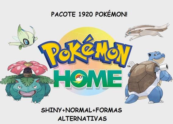 Pacote 1920 (807+807+306) Pokemon Home Switch Shiny+normais!