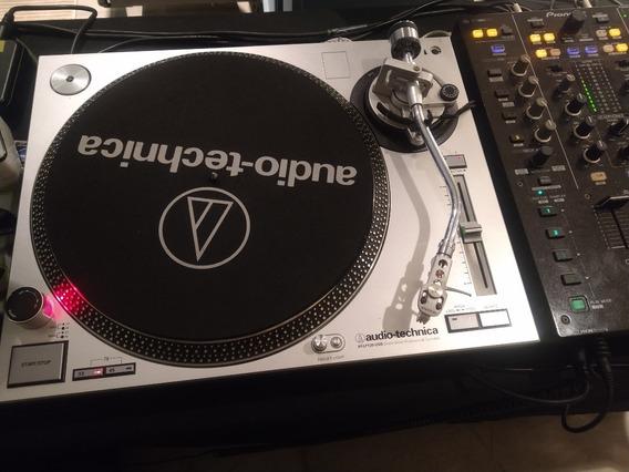 Par Toca Discos Com Cases Audio Technica Atlp 120