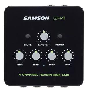 Amplificador Mini 4chs Samson Qh4 P/auri