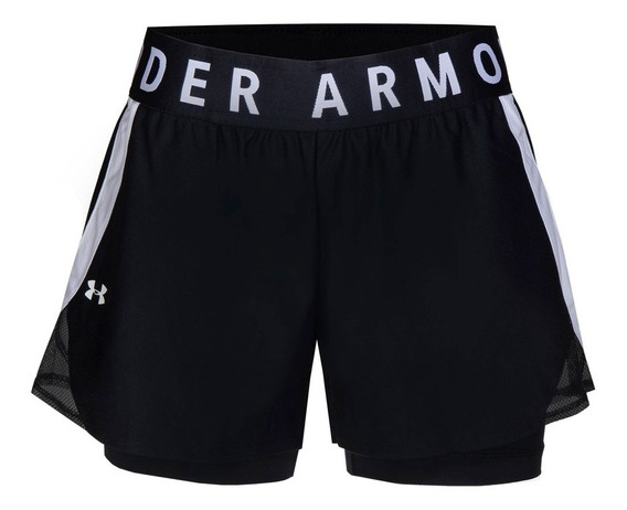 Short Under Armour Play Up 2in1 Mujer-1351981-001