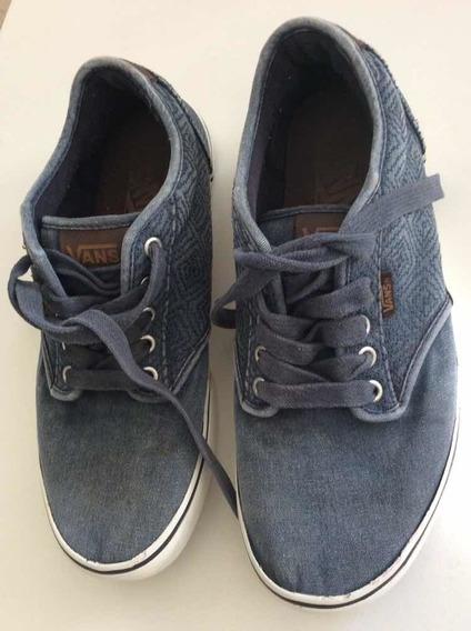 Zapatillas Vans Usadas Azules Us 8.5 Cm 26.5