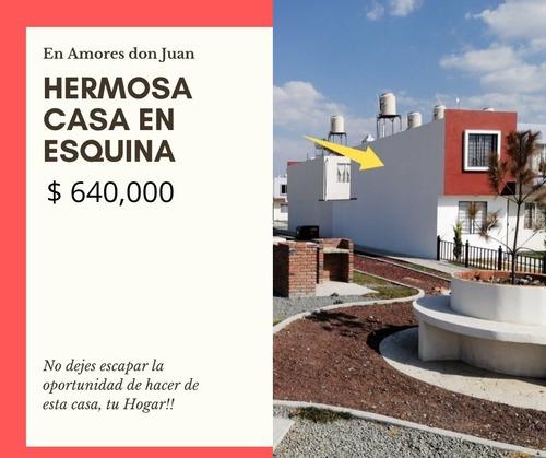Casa En Esquina En Fracc. Amores Don Juan, Pachuca Hgo.