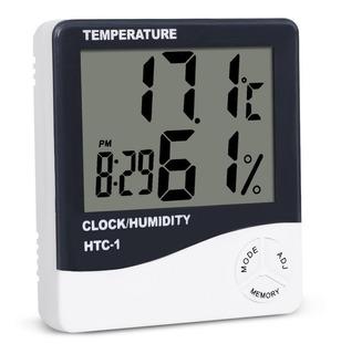 Termômetro Higrômetro Medidor Umidade Ar Relógio Digital E10