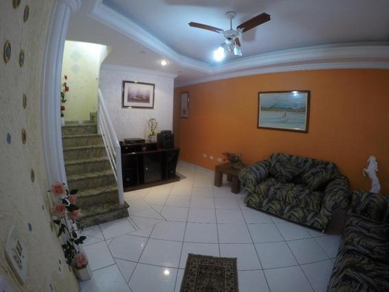 Sobrado Mobiliado Com 3 Dormitórios Para Alugar, 120 M² Por R$ 2.600/mês - Vila Guilhermina - Praia Grande/sp - So0344