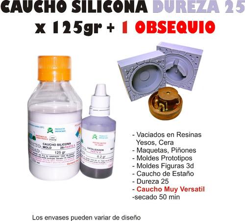 Caucho Silicona Mold 25 Liquido Moldes X 125g  Porcelana