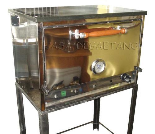 Horno Pizzero 12 Moldes Industrial Acero Inoxidable A Gas Eg