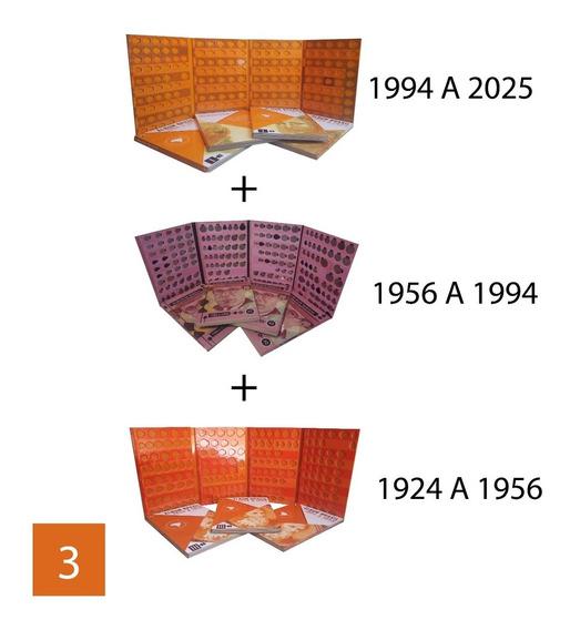 Álbuns De Moedas 1924 A 1956 + 1956 A 1994 + 1994 A 2025