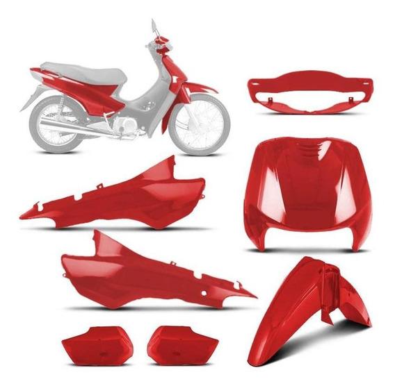 Kit Carenagem Completo Biz 100 Vermelho 1998 À 2005