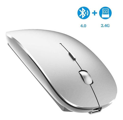 Imagen 1 de 8 de Mouse Óptico Inalámbrico Bluetooth 2.4ghz Con Dpi Ajustable