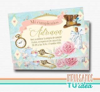 Invitaciones Xv Años Alicia En El Pais De Las Maravillas En